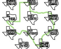 Texas FCM - Texas SVG - Texas PNG - Cities of Texas