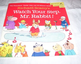 Watch Your Step Mr. Rabbit by Richard Scarry PB Vintage