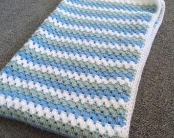 Boys granny stripe blanket