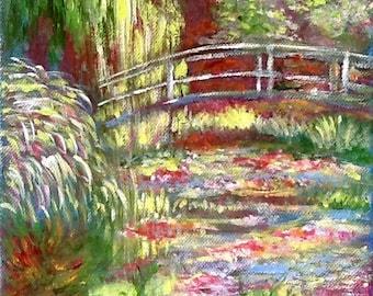 Table acrylic/figurative/Impressionism/Claude Monet / garden / france / Giverny / arts