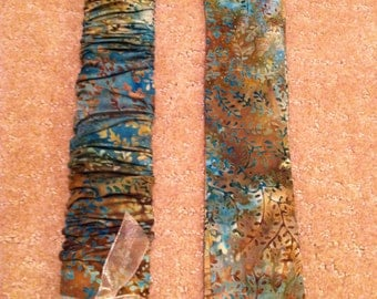 Trendy, Brown & Teal Batik Grotto Branches, Lamp Cord Cover, Fabric cover,Electrical Cord Cover, hide a cord - IN STOCK, Ready to Ship