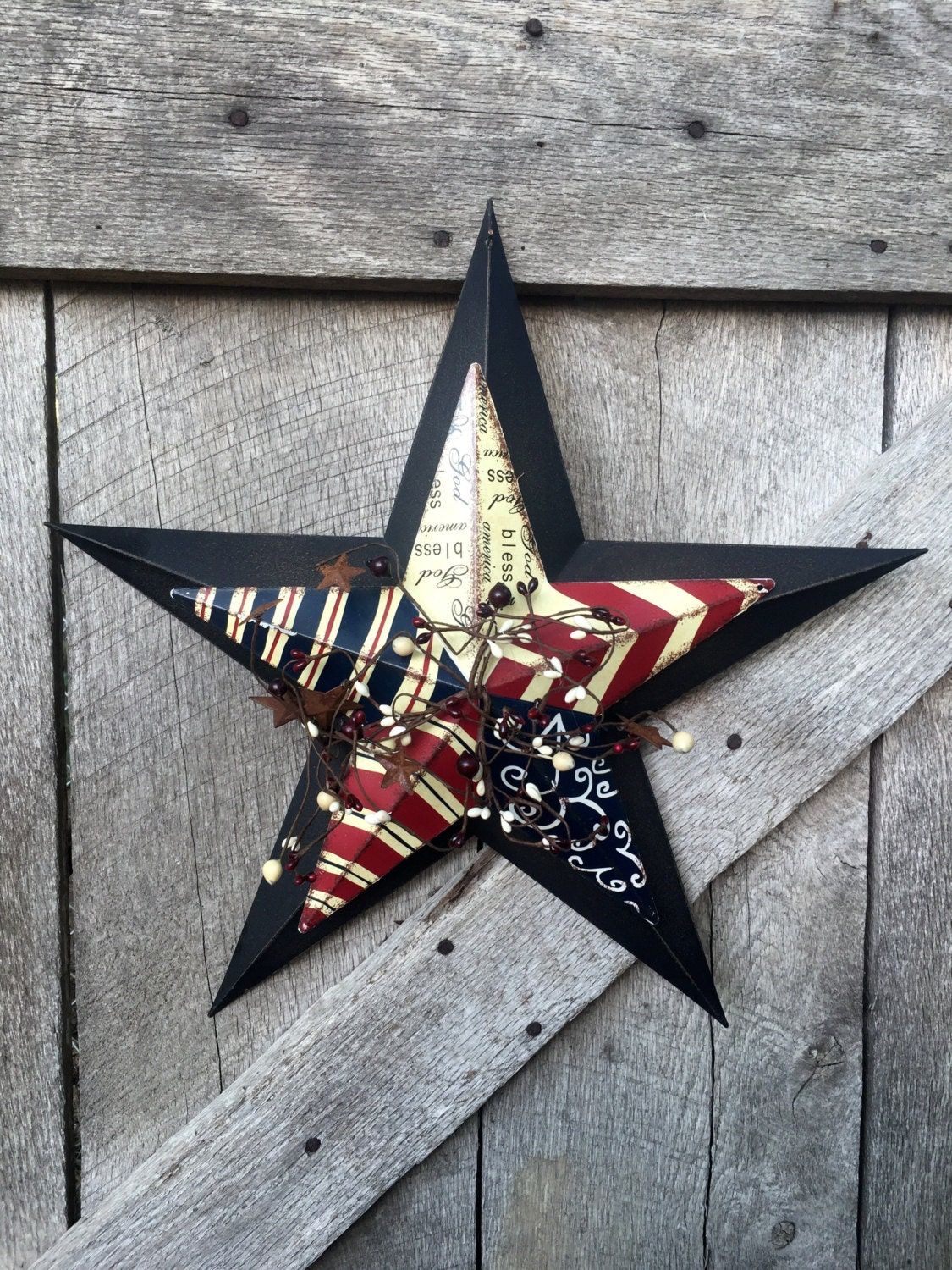 Barn Star Metal Star Decor Americana Barn Star Rustic Star