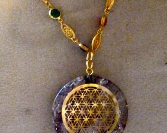 Flower of life pendant orgone