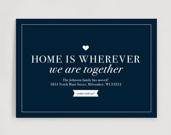 We've Moved Postcard, New Home Announcement, New Address, Moving Announcement Printable Template, Editable, PDF Instant Download #BPB201