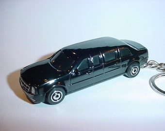 3D 2015 Cadillac One LIMO custom keychain by Brian Thornton keyring key chain finished in black POTUS