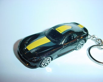 3D 2013 Dodge Viper SRT custom keychain by Brian Thornton keyring key chain finished in charcoal color trim diecast metal body