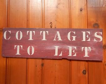 Old Cottages Sign