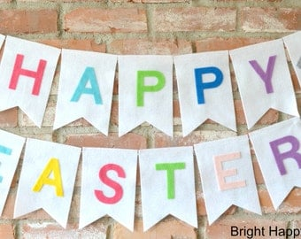 HAPPY EASTER Decoration Banners Happy Easter Banner Rustic Easter Banner easter Garland Banny Easter Photo Prop
