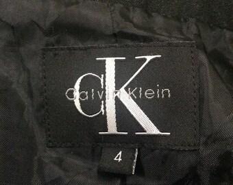On Sale Vintage 90s CK Calvin Klein Blazer Size 4, Rare