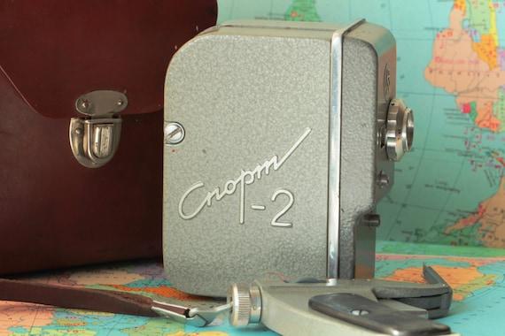 Rare SPORT-2 Russian Movie 2x8 camera USSR 1960s LOMO lens T-40 N34823