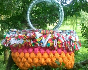 "Bag/purse orange-fuxia ""Bandoleira"""