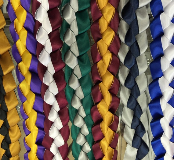 how to make braided ribbon leis for graduation