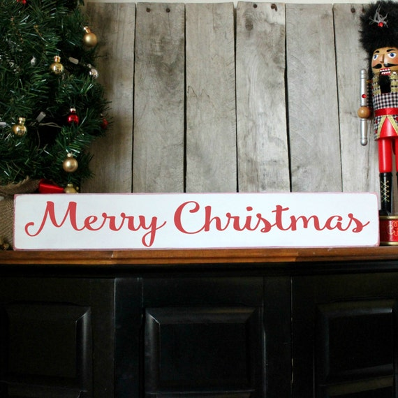 christmas wood sign holiday home decor merry by