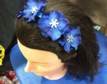 Blue snowflake headband
