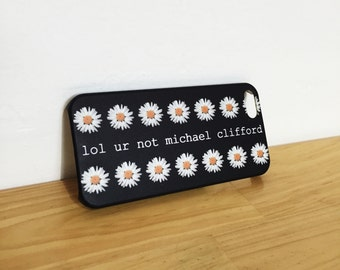 lol ur not michael clifford - White Daisy - Full printed case for iPhone - by HeartOnMyFingers - ANT-082