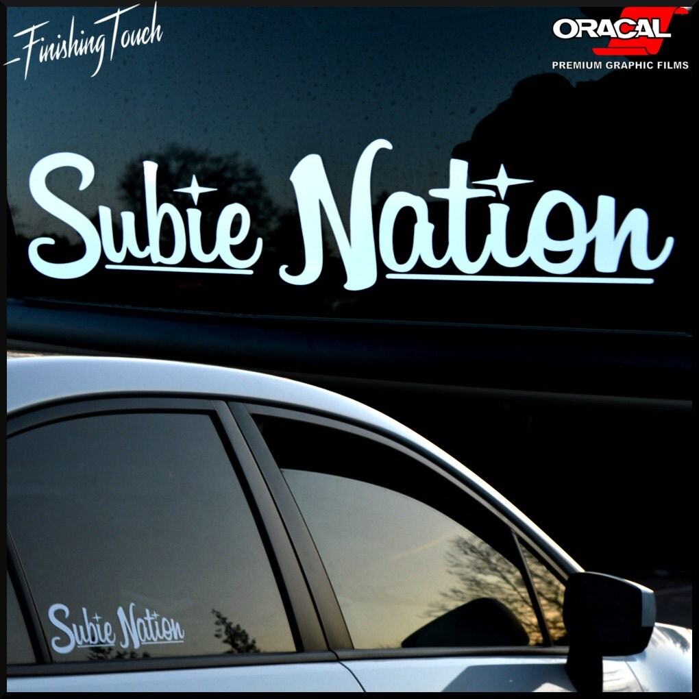 Subie Nation Custom Vinyl Windshield Decal Sticker For Subaru