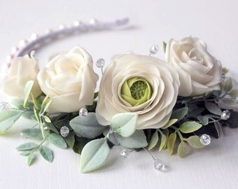 Wedding Hair Accessory,Ivory Wedding Hair Flowers,Wedding Hair Piece,Bridal Hair Accessories,Bridesmaids Hair