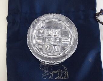 Starburst Base Pattern Pressed Cut Glass Small Storage Jar