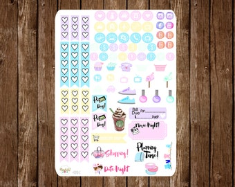 Item #0340-C Pastel Unicorn Dreams Checklists, Icons & More Stickers  (Perfect for Filofaxes or ECLPs)