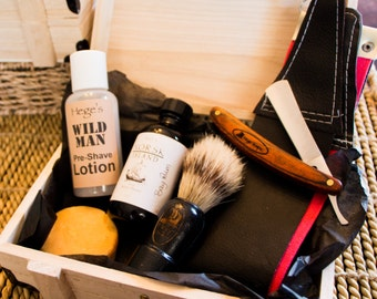 Shaving Kit, Shaving Kits, Men's Shaving Kit, Shaving Soap, Shaving Bar, Safety Razor, Straight Razor, Gifts for Him, Vintage Style Shaving