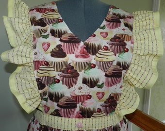X-LGE  Love At First Bite pinafore apron