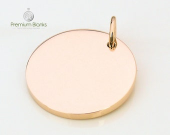 25MM Round Disk Rose Gold Hand Stamping Blank 25MM X 2.5MM thick, Stainless Steel, stamping blanks, metal stamping, metal blanks, 10 gauge