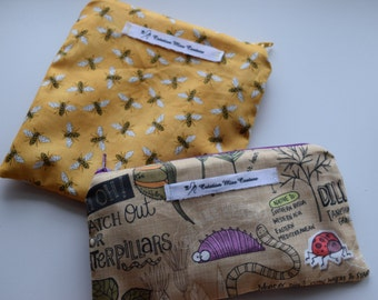 Duo reusable sandwich bag and snack bag
