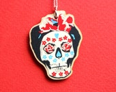 Day of the Dead Jewellery - Mexican Day of the Dead Sugar Skull - Frida Kahlo Inspired - Calavera Catrina Necklace - Mexico Gifts For Her