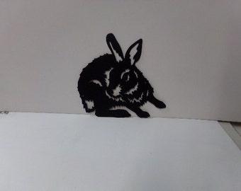 Bunny Rabbit Medium Metal Wall Art Silhouette