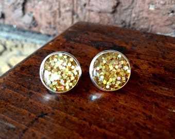 Gold Party Stud Earrings