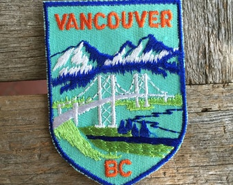 Vancouver British Columbia Canada Vintage Travel Souvenir Patch by Voyager - New in Original Package