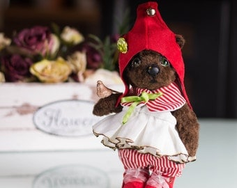 Little Red Cap - OOAK Teddy Bear