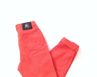 Versace jeans. W27 L28. Versace tangerine orange highwaisted mom jeans, 100% cotton versace jeans. Made in Italy.