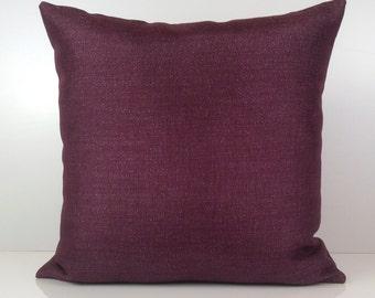 Purple Pillow, Throw Pillow Cover, Decorative Pillow Cover, Cushion Cover, Pillowcase, Accent Pillow, Linen Blend, Silver Sparkles