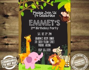 Jungle Animals Birthday Invitation Bday_inv_022
