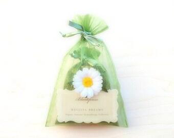 Melissa Dreams • Sweet Dreams • Organic Lemon Balm & German Chamomile Scented Sachet • Dream Pillow • Botanical Sleep Therapy