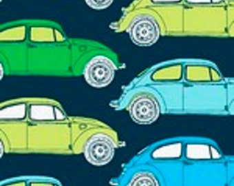"Fabric Freedom Retro Road Trip ""VW Bug"" Quilting Fabric Colorway 3 - By the Yard"