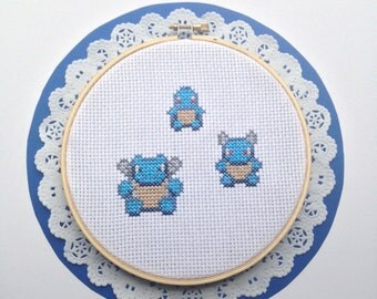 Pokemon Cross Stitch Pattern Squirtle Blastoise Embroidery Needlepoint Buy 2 Patterns get a 3rd FREE!!