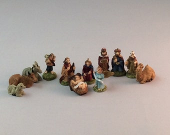 Miniature Plastic Nativity Figures