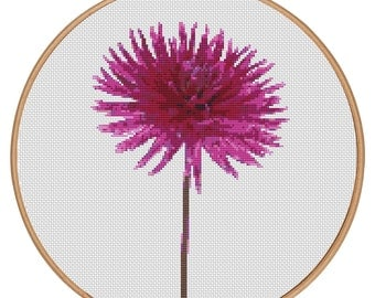 MORE for FREE - Dahlia - Counted Cross stitch pattern PDF - Instant Download - Cross Stitch Pattern - Flowers-Love- Needlepoint #1434