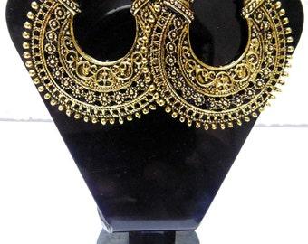 Gold tone Dangle Earrings , Hoop Earrings , Chandelier Earrings , Boho Earrings , Gypsy Earrings , Belly dance earrings