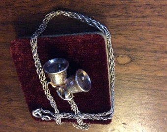 Very nice pair of Silver Bells on a Chain