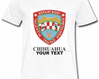 Chihuahua Mexico T-shirt V-Neck Tee Vapor Apparel with a FREE custom text(optional)