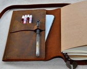 Refillable Leather travel Journal notebook( free initials )