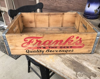 Frank's Quality Beverage Wooden Soda Crate