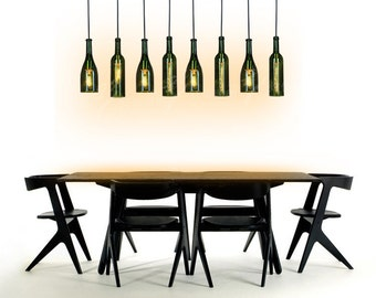 wine bottle pendant lamp--hanging lamp--industrial lamp--PL060