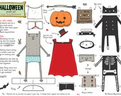 Halloween dress up with Tony Blandford - cut-out doll - DIGITAL DOWNLOAD