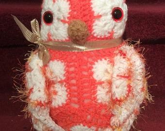 OWL hand crochet doorstop.