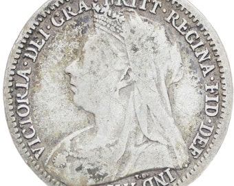 Great Britain Queen Victoria 1899 3 Pence Silver Coin (3rd portrait)