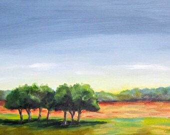 Storm Clouds Lifting, 12 x 6, landscape, original oil painting,